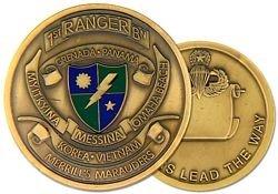 US Army Ranger 1st Ranger Battalion Challenge (Battalion Challenge Coin)