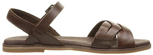 Timberland Caswell de la mujer y-Strap sandalias de pescador Café Oscuro