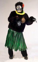 Aloha Gorilla Adult Costume - ()