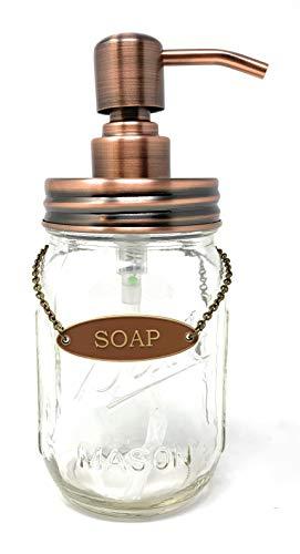 KreaSHen Mason Jar Soap Dispenser, Soap/Lotion Label Tag ()
