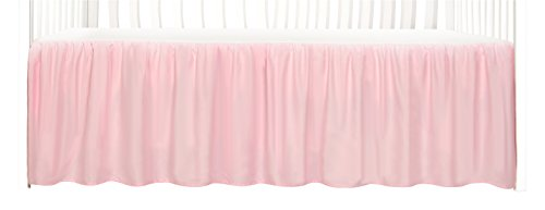Tadpoles Dust Ruffle Crib Skirt, Pink (Toddler Skirt Crib)