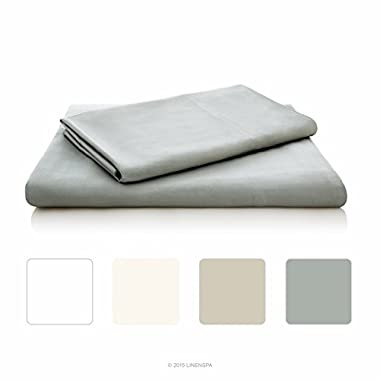 LINENSPA Ultra Soft Luxury 100% Rayon from Bamboo Sheet Set - Full - Stone