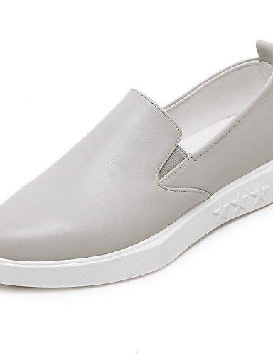 ZQ di grigio us6 tacón cuero plano Scarpe gris casual punta uk4 cerrada 7 planos cn37 mujer eu37 gyht 5 5 5 7rnEx4q7