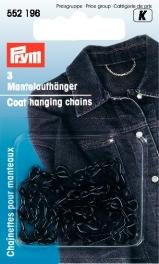 PRYM 552196 Coat hanging chains black-coloured, 3 pieces