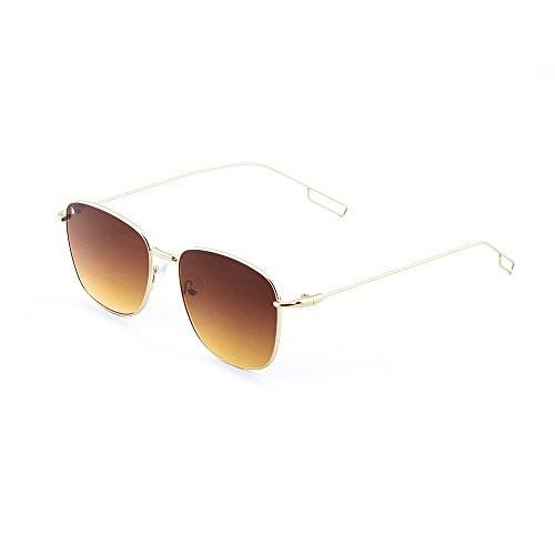 Lunettes soleil Or Homme Gradient Marron TWIG de Milano Concept Y7IIxE1
