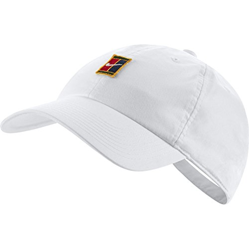 NikeCourt Heritage 86 Adjustable Tennis Hat (White) (Tennis Hat For Women)