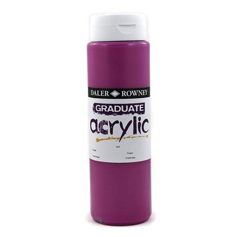 Daler - Rowney Graduate Acrylic 500ml Paint Ink Bottle - Burnt Sienna