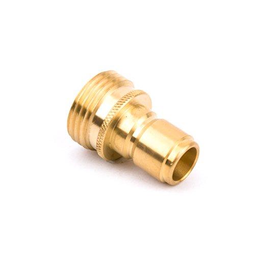 WOLET Garden Hose Adaptor Inlet QC Plug M22 10.5GPM 4000PSI ()