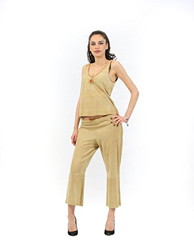 and Woman Beige Top Pants Inmoda Complete E4qxRwdR