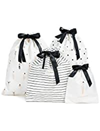 Women's Getting Dressed Travel Bag Set, Black/White, One Size