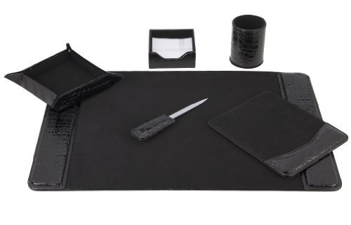 Majestic Office Supply Eco-Friendly 6 Piece Leather Desk ...