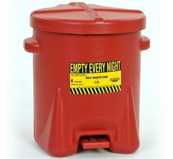 Oily Waste Safety Can W/Foot Lever 6gal