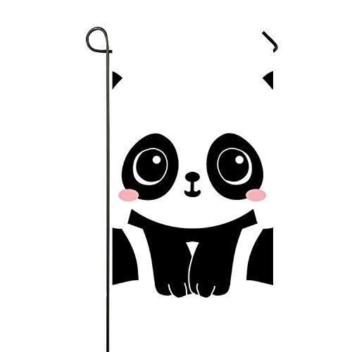 WilBstrn Panda Clipart Welcome Garden Flag Holiday Spring Su