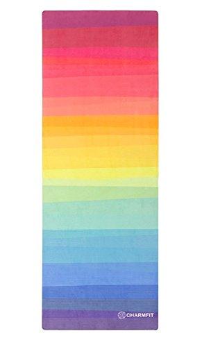 H-YOGA ヨガマット 天然ゴム 100% 無毒性 エクササイズマット ヨガ ホットマット 滑り止め Charmfit Rainbow(海外直送品)   B07CYWC2KW