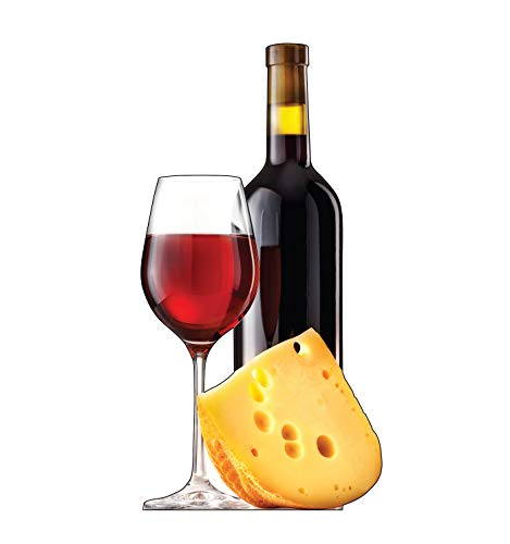 Advanced Graphics Cheese and Wine Life Size Cardboard Cutout Standup