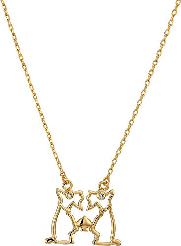 Kate Spade New York Women's Celestial Charm Gemini Necklace Clear/Gold One Size ()