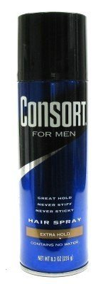 Consort For Men Hair Spray Unscented Extra Hold 8.30 oz (Pack of 6) by Consort