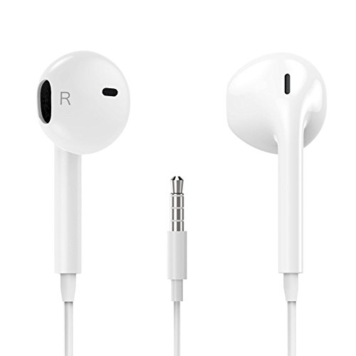 Earphones,1-Pack iPhone Earbuds Stereo Earphones with Microphone Headphones with Mic...