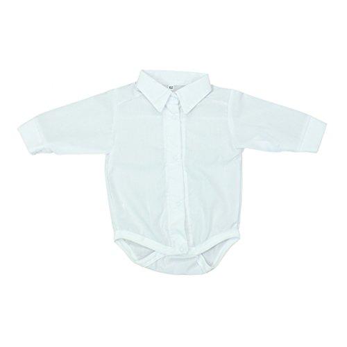 Baby Hemd-Body Jungen Taufbody mit Kragen Festlicher Babybody, Farbe: Weiß, Größe: 80