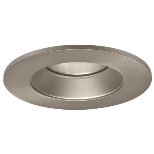 HALO Recessed TL402SNS 4-Inch LED Trim Shower Rated Solite Regressed Lens with Reflector, Satin Nickel