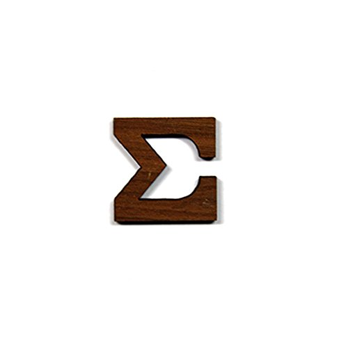 Sigma Greek Letter Made of Wood for Paddle Mascot Board (1.5 Inch)
