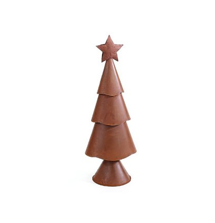 Medium Rusty Three-Tier Christmas Tree by Heart of America