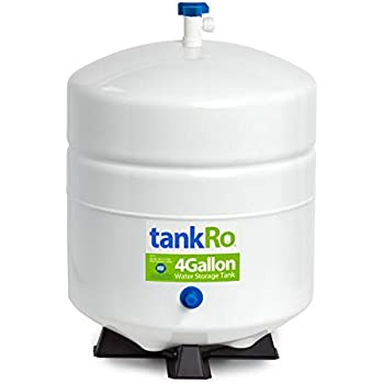 RO Expansion Tank 4 Gallon - NSF Certified - Compact Reverse Osmosis Water Storage Pressure Tank by tankRO - with Free Tank Ball Valve