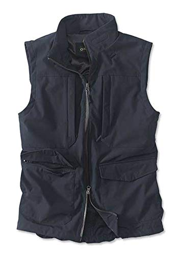 (Orvis Men's Curious Traveler Vest, Navy Blue, Xx)