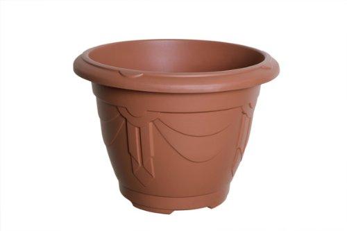 Whitefurze G02018 24cm Venetian Round Planter - Terracotta