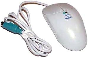 NEC Logitec 2-Button M-S42 Beige PS2 Mouse 160413