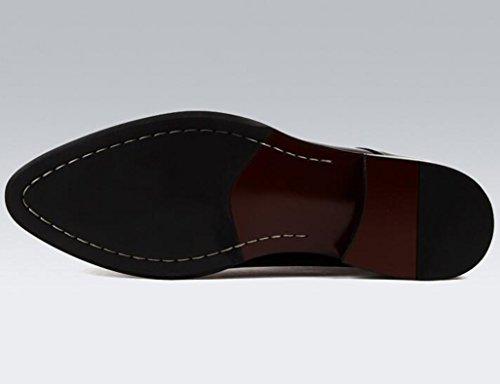 Herren Lederschuhe Spitze Schuhe Business Style Herrenschuhe Formelle Wear Low Lace Single Schuhe Herrenschuhe ( Farbe : Braun , größe : EU43/UK8 ) Schwarz
