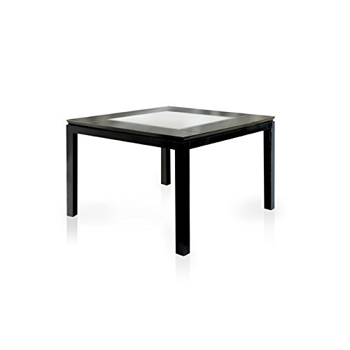 Furniture of America Helena Counter Height Dining Table with Mirror Top, High Gloss Lacquer, Black by Furniture of America