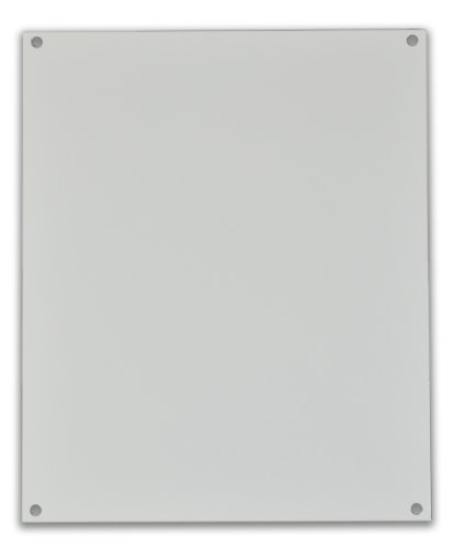 Allied Moulded P164 White Painted Carbon Steel Back Panel for AM Series or Ultraline Series Fiberglass Enclosures