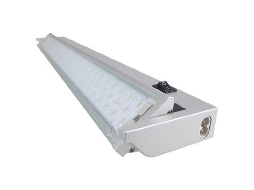 Rolux Warmweiss LED SMD Schwenkbare 5,4W Aluminium Unterbauleuchte mit Euro-Stecker 580mm