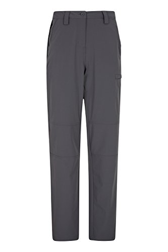 Mountain Warehouse Trek Stretch Womens Trousers - Ladies Spring Pants Charcoal 16 (Croft And Barrow Womens Elastic Waist Pants)