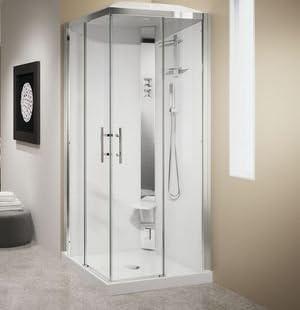 Mampara de ducha cuadrada crystal 90 x 90 cm de acceso de ángulo en version estándar o hydromassage con gorro para: Amazon.es: Bricolaje y herramientas