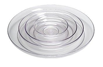 (Smither Oasis 6 Inch Lomey Clear Designer Dish, Pack 24)