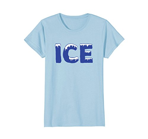 Womens Funny Family Halloween Costume Shirt - Ice and Baby Large Baby Blue