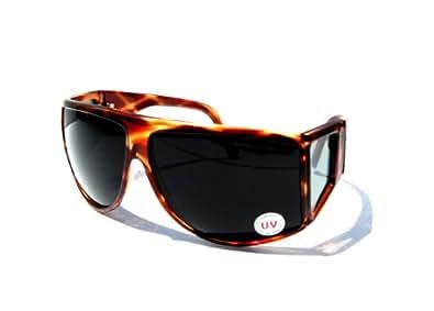 Amazon.com: Super Dark Lens BROWN WRAP-AROUND Sunglasses