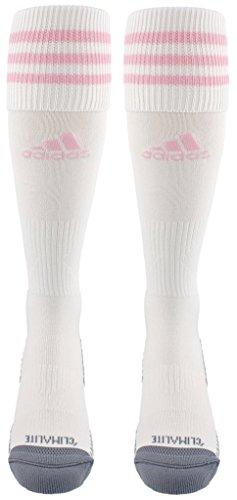 adidas Unisex Copa Zone Cushion III Soccer Socks (1-Pair), White/Diva, 13C-4Y