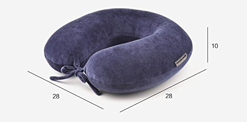 Price comparison product image Slow Rebound Memory Foam U-shaped Neck Pillow Office Rest Nap Travel Aircraft Memory Foam Neck Pillow Navy Blue See below for size descriptions