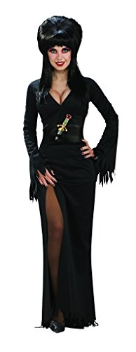 Faerynicethings Elvira Mistress of The Dark Adult Costume - Standard Up to 12 Black]()