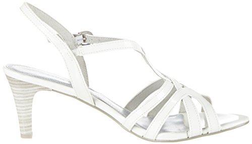 Women's Tozzi Marco White Open 123 Sandals Patent 28321 White Toe AZf4qFw