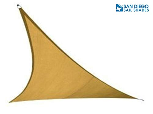 San Diego Sail Shades 16 x16 x16 Triangle Sandy Beach – Heavy Duty Commercial Grade 205gsm Shade Sail
