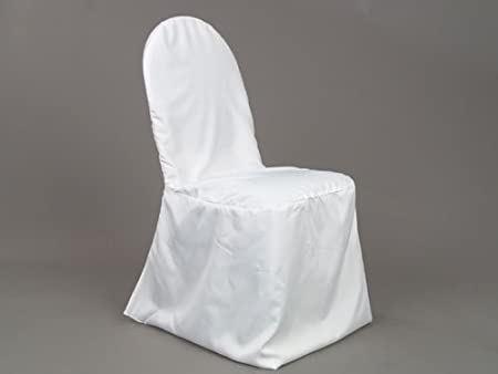 100 Wedding Banquet Chair Covers White Standard Round Top Amazon Co