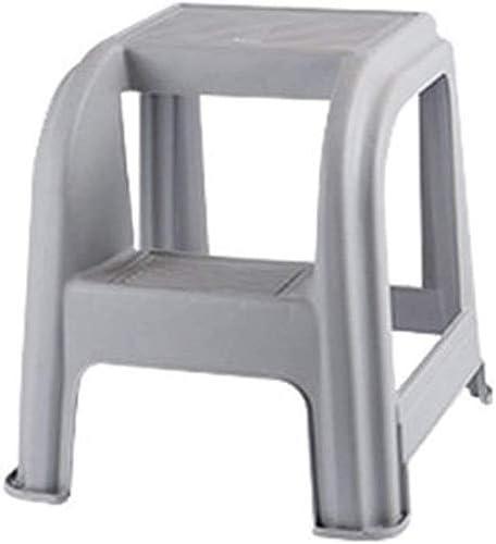 YZjk Taburete Plegable, fácil y multifunción, Plegable, Taburete de plástico Moldeado en 2 escalones con escalones Antideslizantes, Capacidad de 300 Libras, a: Amazon.es: Hogar