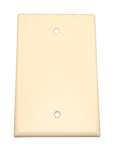 Leviton 80514-T 1-Gang No Device Blank Wallplate, Midway Size, Thermoset, Box Mount, Light Almond
