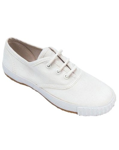 Mirak Plimsolls Unisex Lace New Footwear Up White ASG14 Textile Shoes Adults 204 4B4AOr