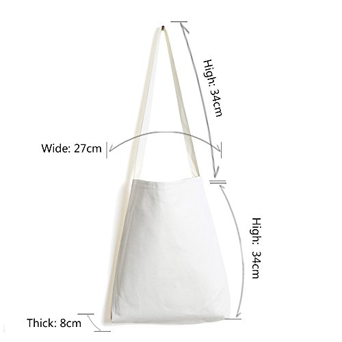 1003 Sized Messenger Everyday Stylish Shopping Bag Nylon Shoulder Bag Bag Medium Hobo white Women Casual OAwf4xxq