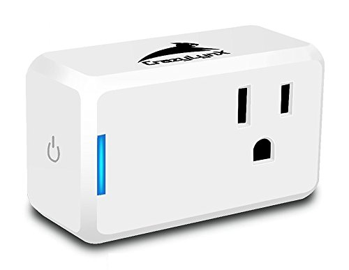 Wifi Smart Plug - CrazyLynX Mini Smart Socket Outlet Compatibles with Amazon Alexa/Google Assistant, Control Devices by Voice/App Anywhere with Timing Function Switch, No Hub Required, Android/IOS